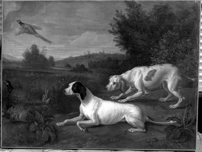 Peinture sur toile : Deux chiens