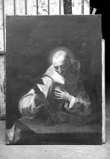 Peinture sur toile : Saint Bruno ?