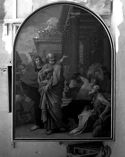 Peinture sur toile : Guérison du boîteux par saint Pierre