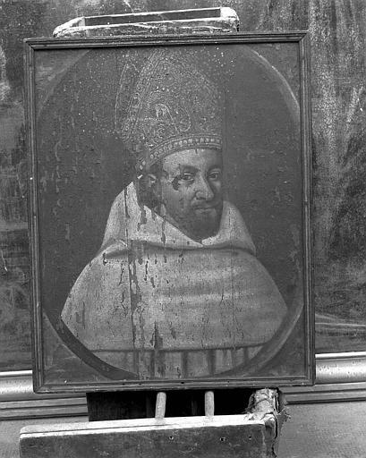Panneau peint : Portrait d'un abbé cistercien