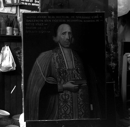 Peinture sur toile : Portrait de Pierre Blar, curé d'Alençon