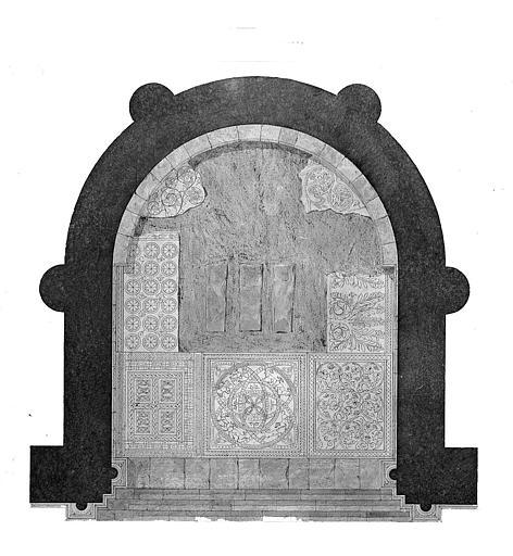 Plan des mosaïques du choeur (état actuel)
