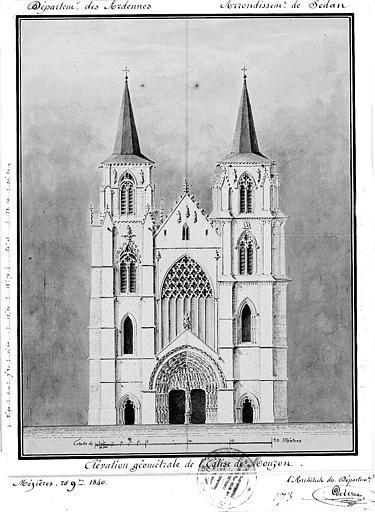 Elévation géométrale de la façade ouest