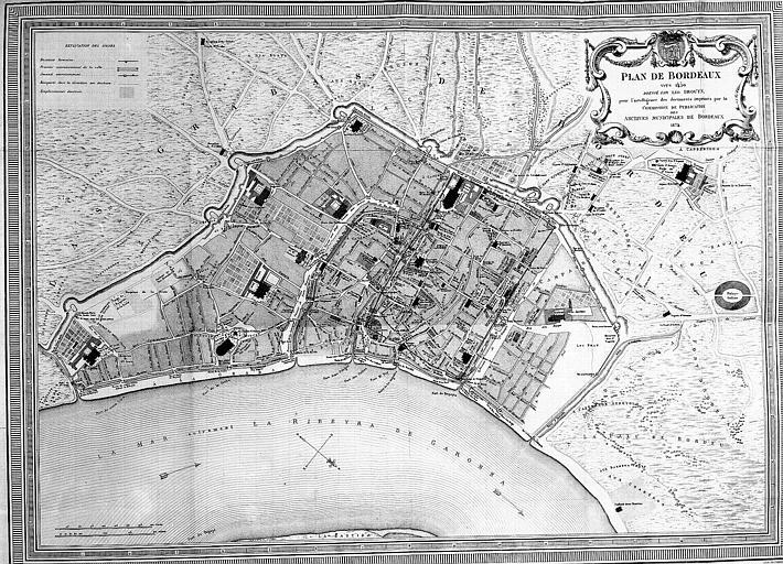 Plan général de la ville vers 1450