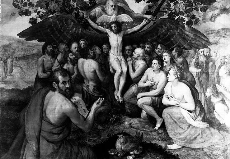 Panneau peint : Agnus Dei