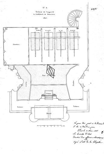 Plan de la tribune d'orgue