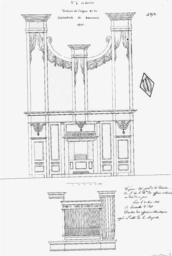 Elévation de la tribune d'orgues
