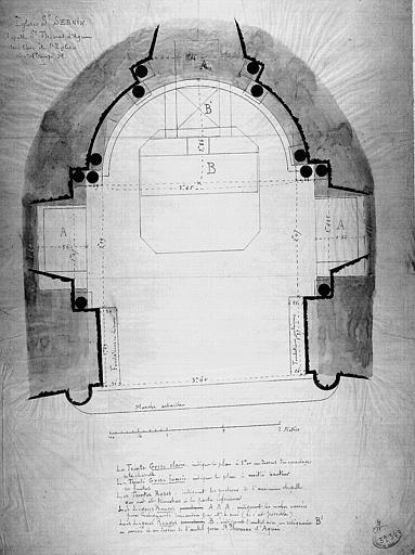 Plan de la chapelle Saint-Thomas-d'Aquin