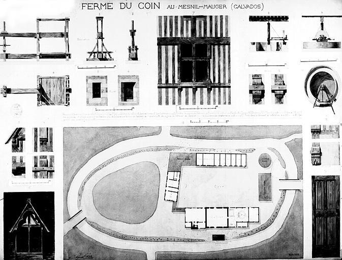 Plan général et détails (aquarelle)