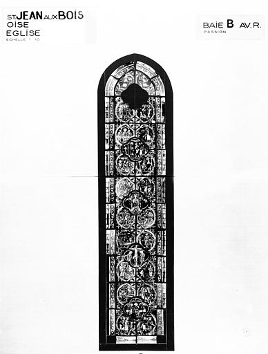 La Passion, baie B, panneau de vitrail
