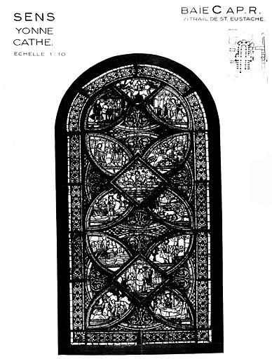 Saint Eustache, baie C, panneau de vitrail