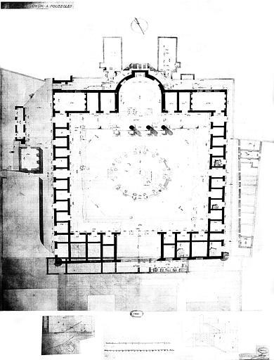 Restauration des thermes : Plan général