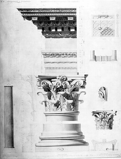 Restauration des thermes : Ensemble du 1e ordre autour de l'Atrium