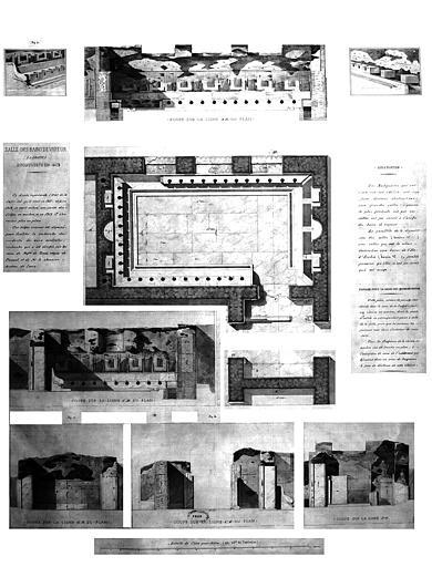 Restauration des thermes : Salle des bains de vapeur découverte en 1813
