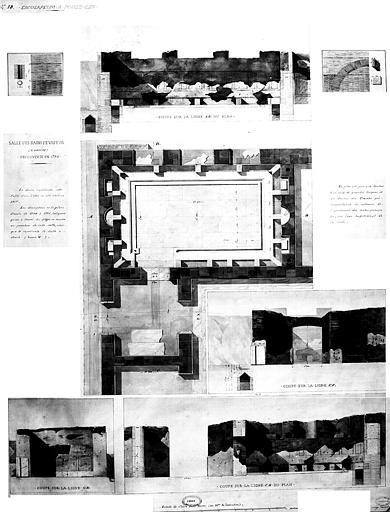 Restauration des thermes : Salle des bains de vapeur  découverte en 1750