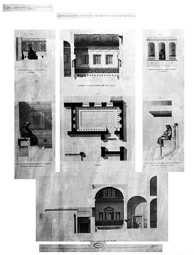 Restauration des thermes : Restauration d'une des salles des bains de vapeur