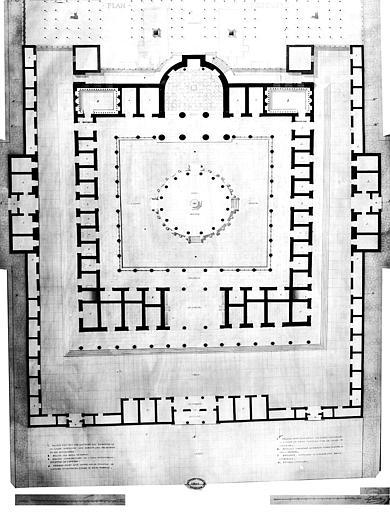 Restauration des thermes : Plan général (restauré)