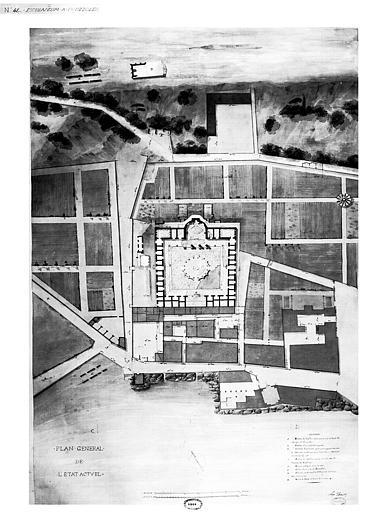 Restauration des thermes : Plan général (état actuel)