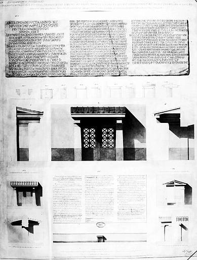 Restauration des thermes : Inscription trouvée à Pouzzoles et projets de restauration d'une porte