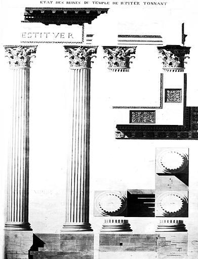 Restauration du temple : Etat des ruines du temple