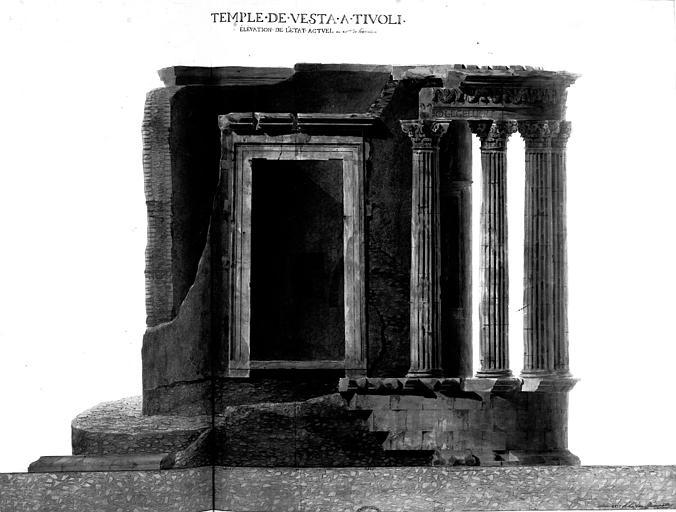 Restauration du temple : Elévation (état actuel)