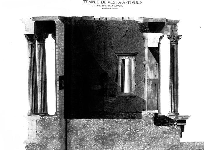 Restauration du temple : Coupe (état actuel)