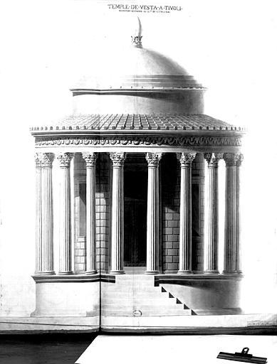 Restauration du temple : Elévation restaurée