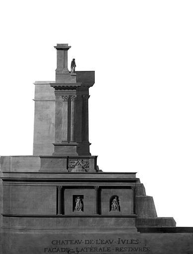 Restauration du château d'eau : Façade latérale restaurée
