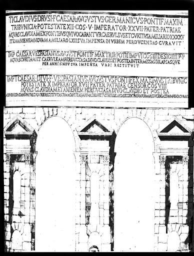 Restauration du château d'eau : Elévation de l'Aqueduc