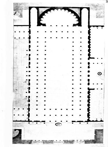 Restauration de la basilique : Plan restauré