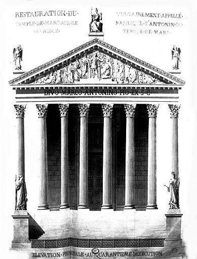 Restauration du temple : Elévation principale