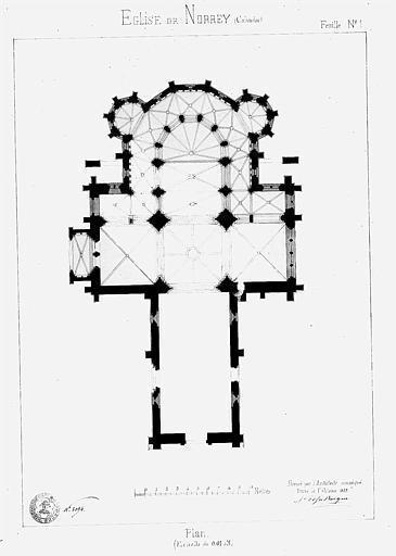 Plan général, feuille n° 1 (plume et encre de chine)