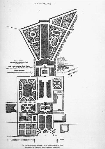 Gravure : Plan général du domaine au 18e
