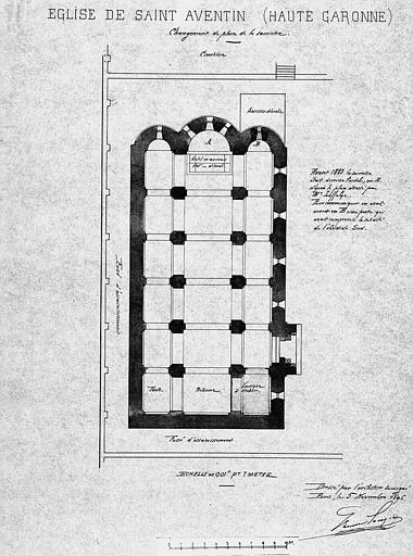 Plan général : Changement de place de la sacristie