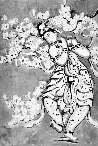 Projet d'affiche à l'aquarelle : Siang-Sin