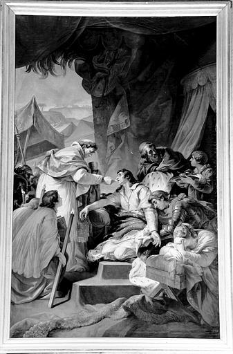 Peinture sur toile de la chapelle : Dernière communion de Saint Louis