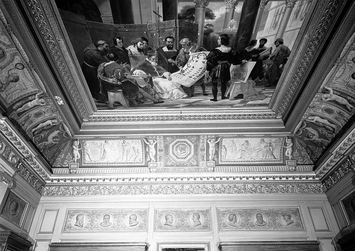 Galerie Charles X, voussure côté sud de la 2e salle (grisailles)