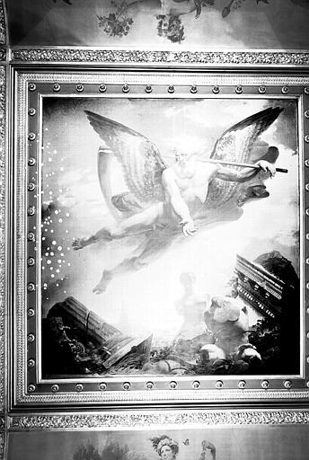 Salle des Bijoux antiques, plafond peint : Le Temps montrant les ruines qu'il amène et les chefs-d'oeuvre qu'il laisse ensuite découvrir