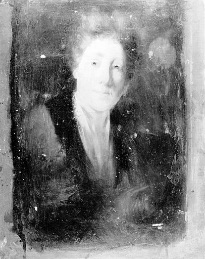 Peinture sur toile : Portrait de dame