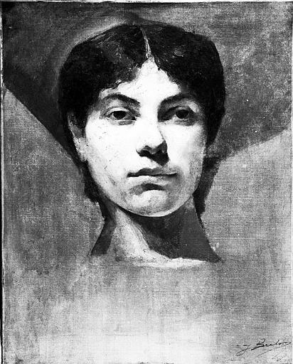 Peinture sur toile : Tête de femme
