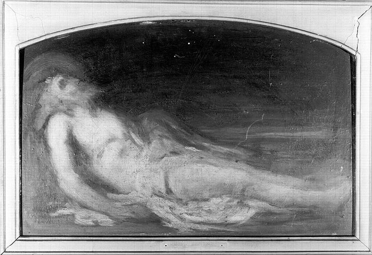 Peinture sur bois : Le Christ au Tombeau