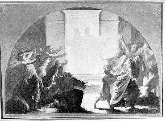 Peinture sur toile : Les Sodomites frappés d'aveuglement