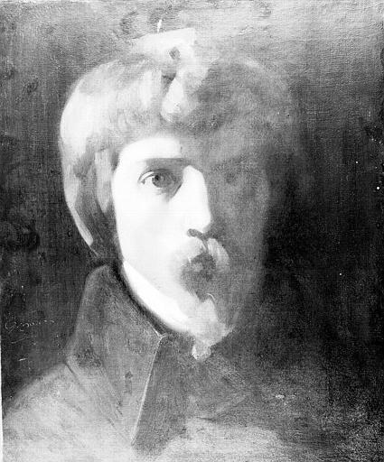 Peinture sur toile : Autoportrait ?