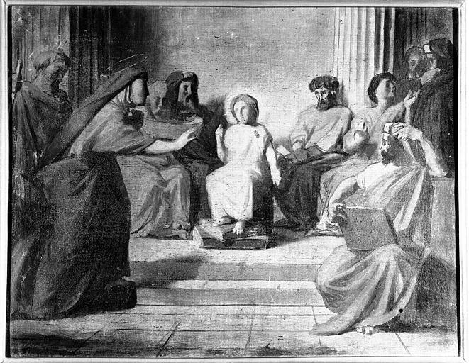Peinture sur toile : Jésus parmi les docteurs