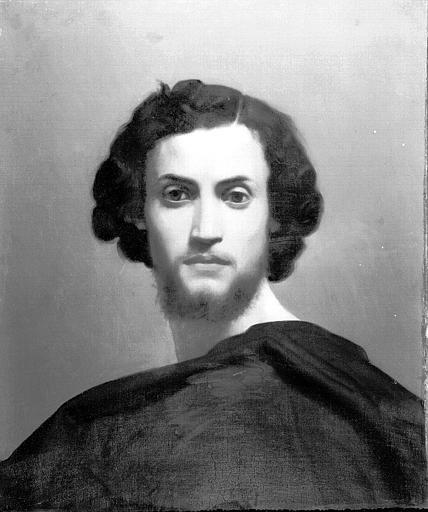 Peinture sur toile : Portrait d'homme