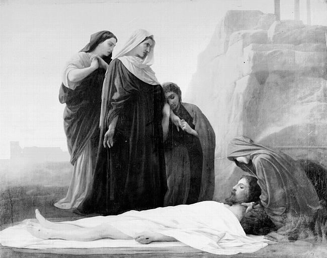 Peinture sur toile : Déploration du Christ