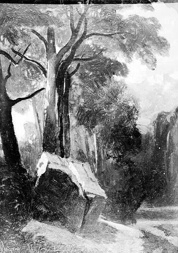 Peinture sur toile : Vue de la forêt de Fontainebleau