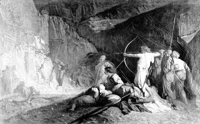 Peinture sur toile : Tireurs à l'arc