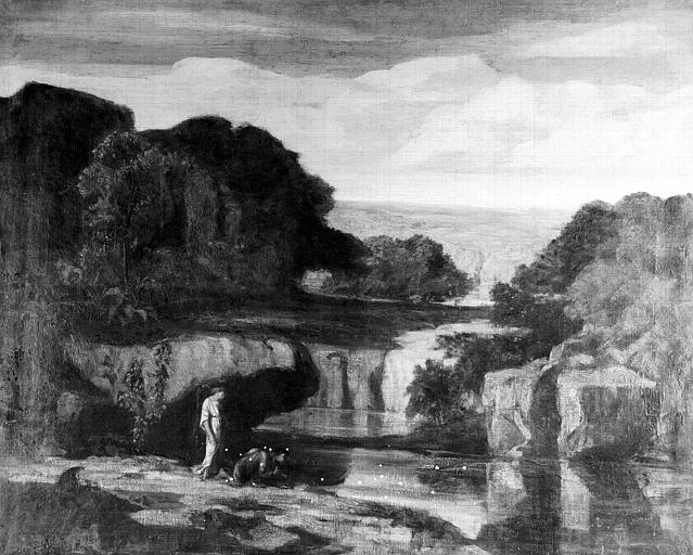 Peinture sur toile : Tobie et l'Ange