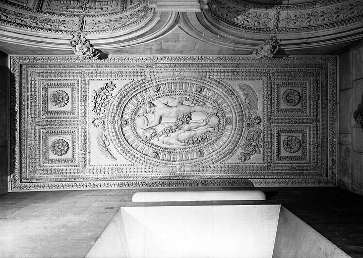 Escalier Henri II, plafond du palier du 1e étage